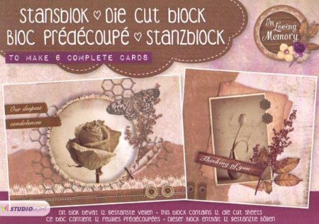 In Loving Memory 3D Die Cut Decoupage A5 Block  By Studio Light